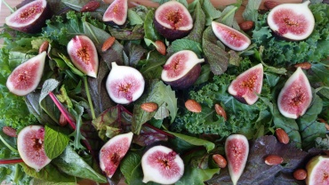 Salted caramel Almond, Fig and Green Leafy Salad
