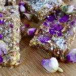 No Bake Healthy Date and Rose Petal Energy Bar